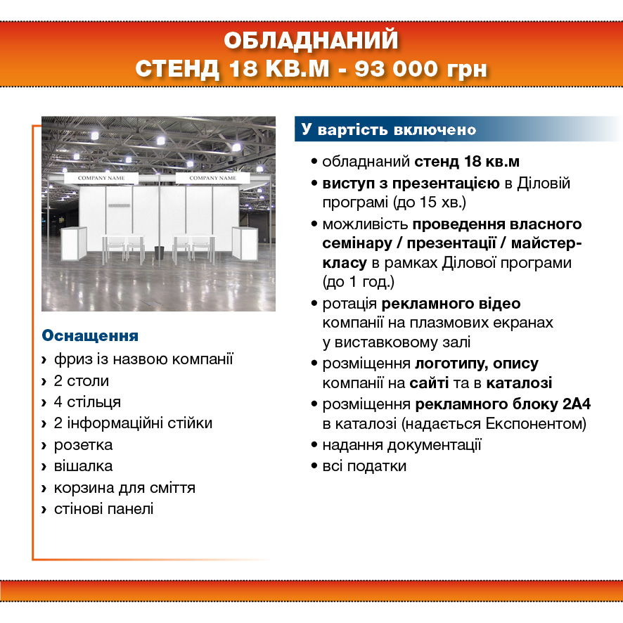 Stand 18 sq.m